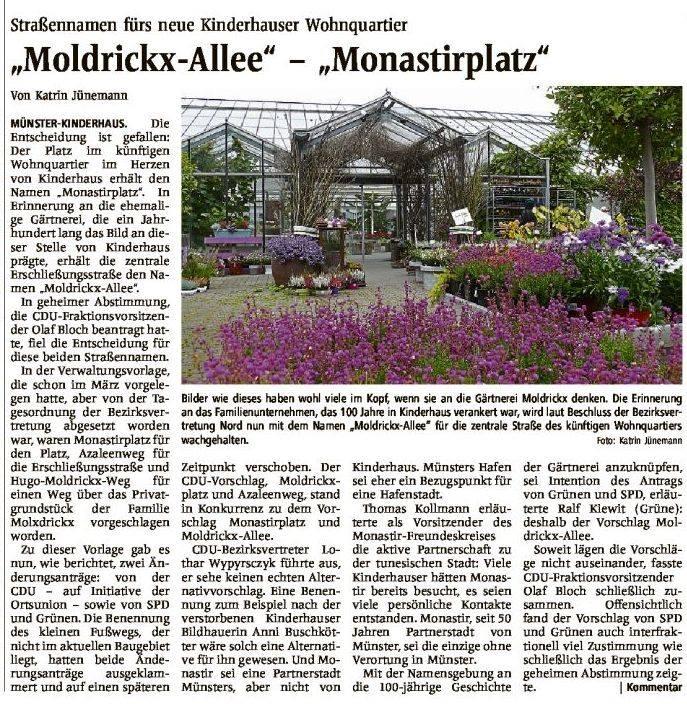 """Moldrickx-Allee"" – ""Monastirplatz"""