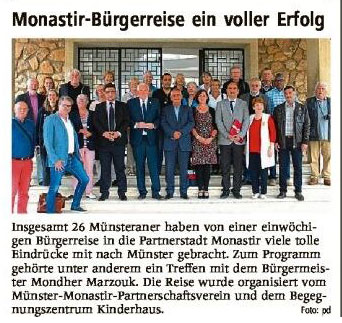 Monastir-Bürgerreise ein voller Erfolg