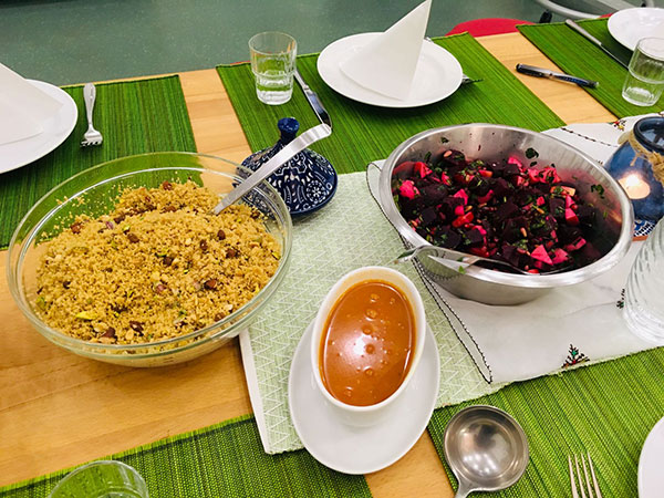 Couscous und Rote Beete Salat