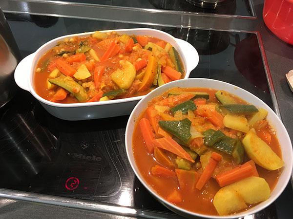 Fertiges Gemüse